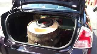 Worlds Loudest Wine Barrel subwoofer, DD Audio Bass tasting Demo at wheel kings