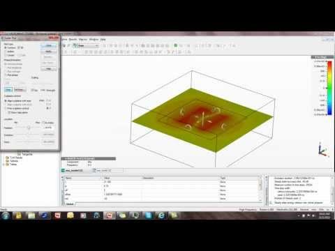 CST studio tutorial 5: Field Animation in CST