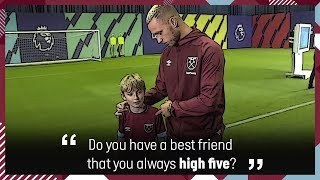 10 YEAR OLD WEST HAM SUPER FAN INTERVIEWS ARNAUTOVIC, WILSHERE & PELLEGRINI!
