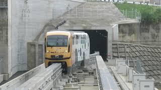 沖縄都市モノレール1000形 てだこ浦西駅到着 Okinawa Urban Monorail 1000 series EMU