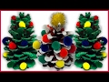 DIY How to Make Decorative Pinecone Christmas Trees for Kids