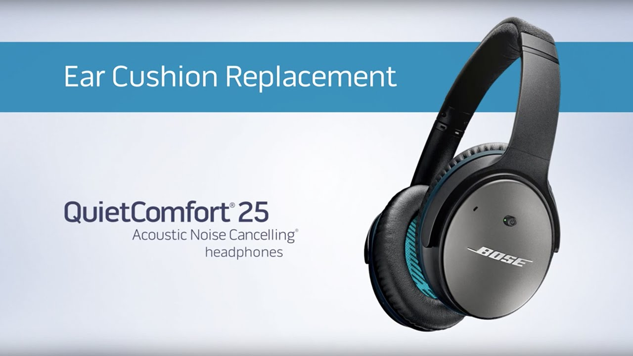 0da2bd4dd9b Bose QuietComfort 25 - Changing the Ear Cushions - YouTube