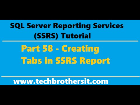ssrs tutorial 58 creating tabs in ssrs report youtube