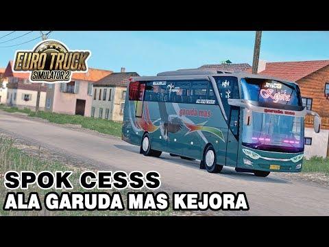 ADU SPOK, JETBUS 3 GARUDA MAS KEJORA VS PO HARYANTO - ETS2 MOD INDONESIA - 동영상