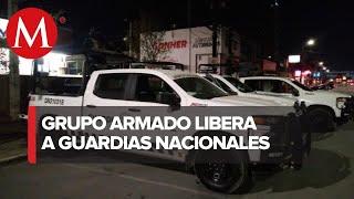 Liberan a dos elementos de la Guardia Nacional privados de su libertad en Zacatecas