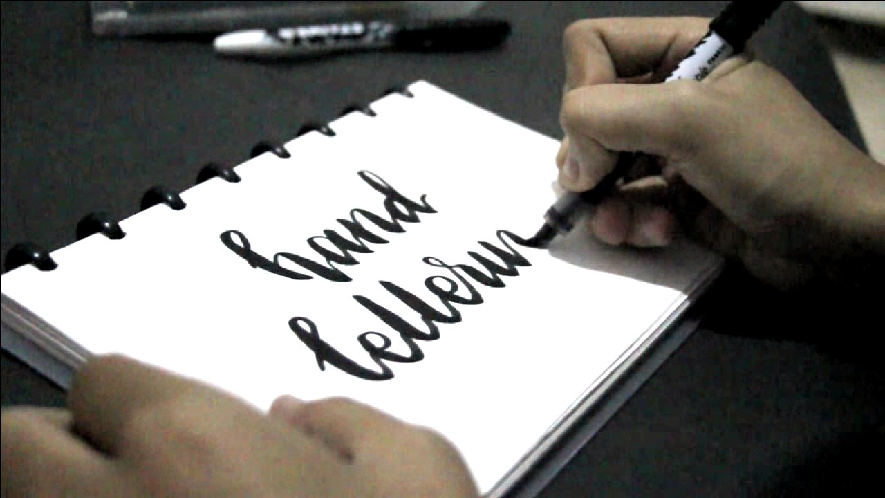 tutorial hand lettering stained by sharpie fabric marker youtube