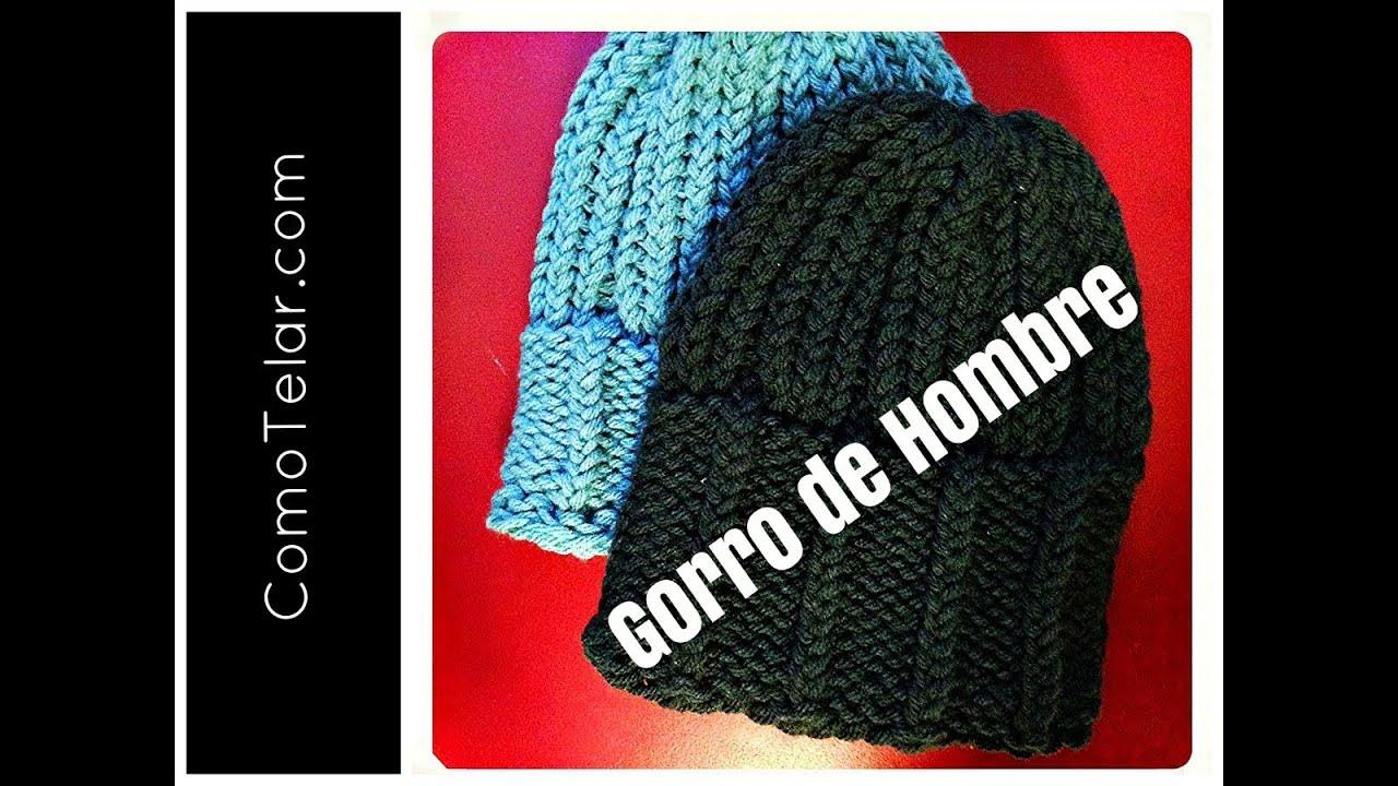 GORRO DE HOMBRE con Telar Redondo / Circular - Mens Hat on Circular ...