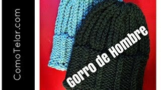 Gorro de Hombre con Telar Redondo / Circular - Mens Hat on Circular Loom in Spanish
