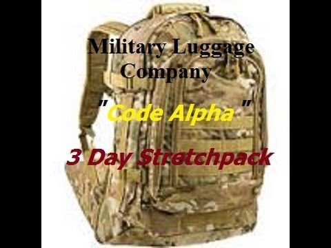 635e7a81dcb3 CODE ALPHA 3 Day Stretchpack By The Military Luggage Company