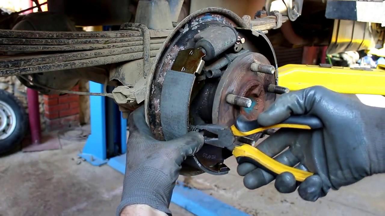Hyundai Porter 2006 года  Хундай Портер Тагаз Замена задних барабанных колодок