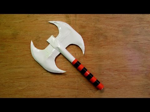 How to Make a Paper Toy Double Headed Battle Axe