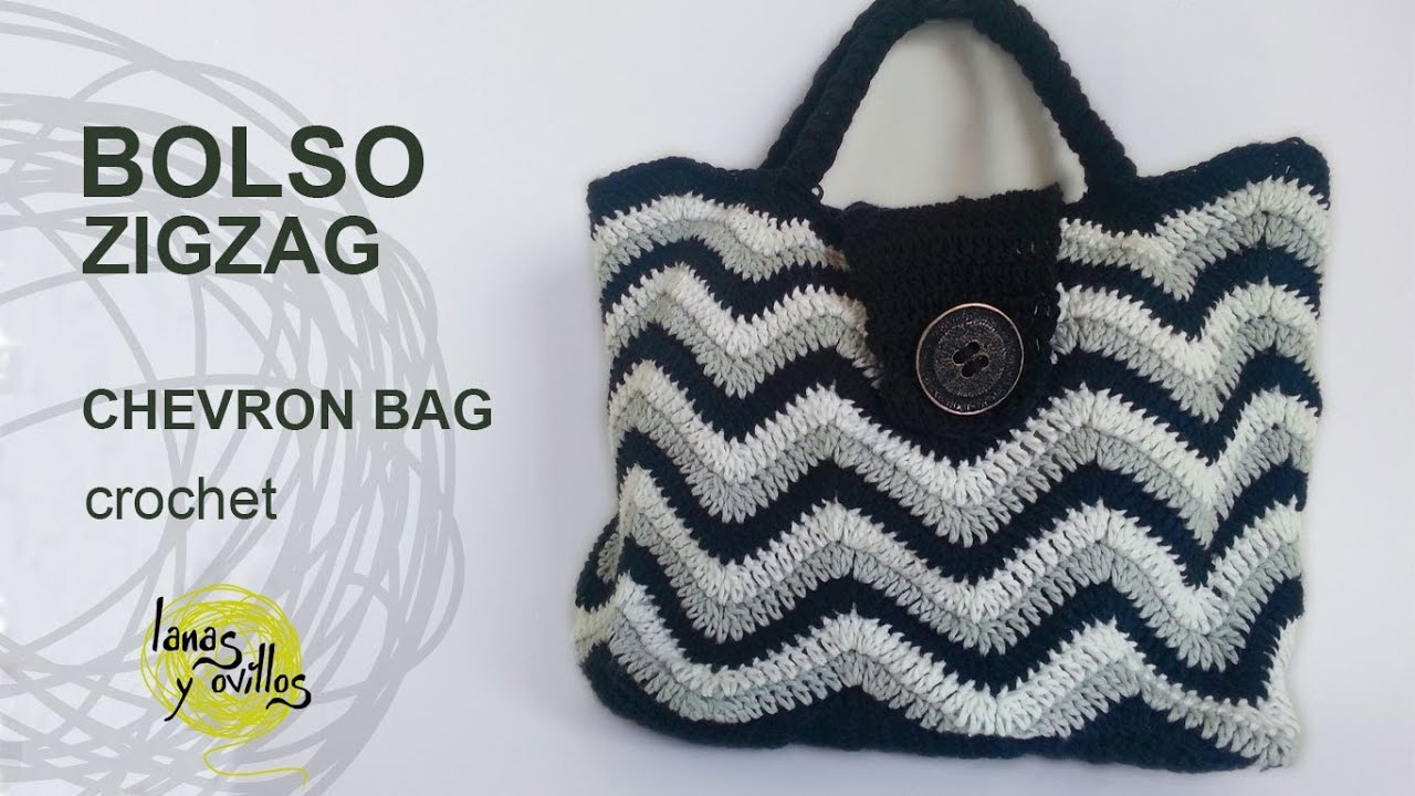 Tutorial Bolso Crochet o Ganchillo ZigZag Handbag YouTube