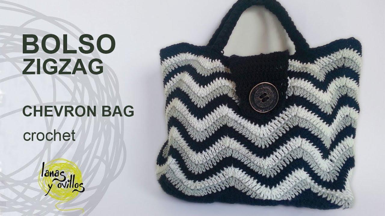 Tutorial Bolso Crochet o Ganchillo ZigZag Handbag - YouTube