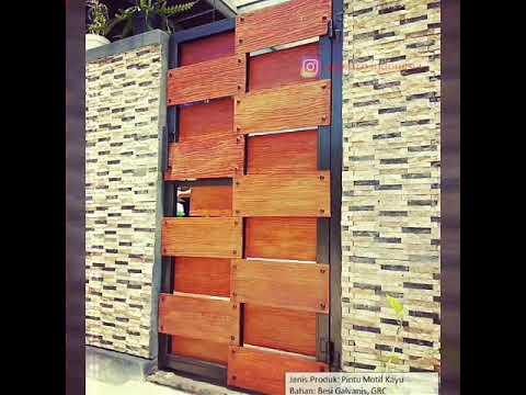 pagar-minimalis-modern-motif-kayu-klasik-grc