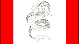 japanese dragon draw tattoo easy drawings drawing