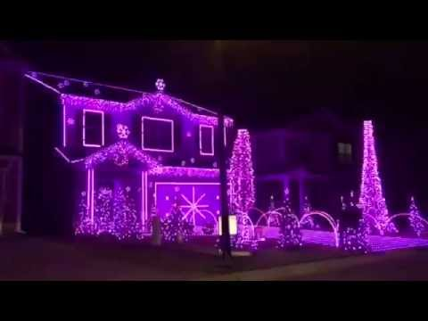 Worlds best Christmas light display to music 2016 - YouTube