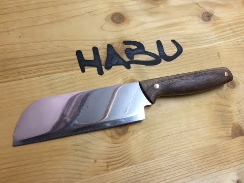 Thumbnail: DIY | Chinese chopping knife out of an old butcher cleaver