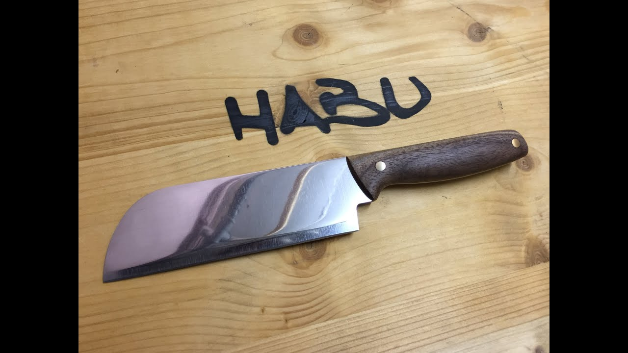 diy chinese chopping knife out of an old butcher cleaver youtube