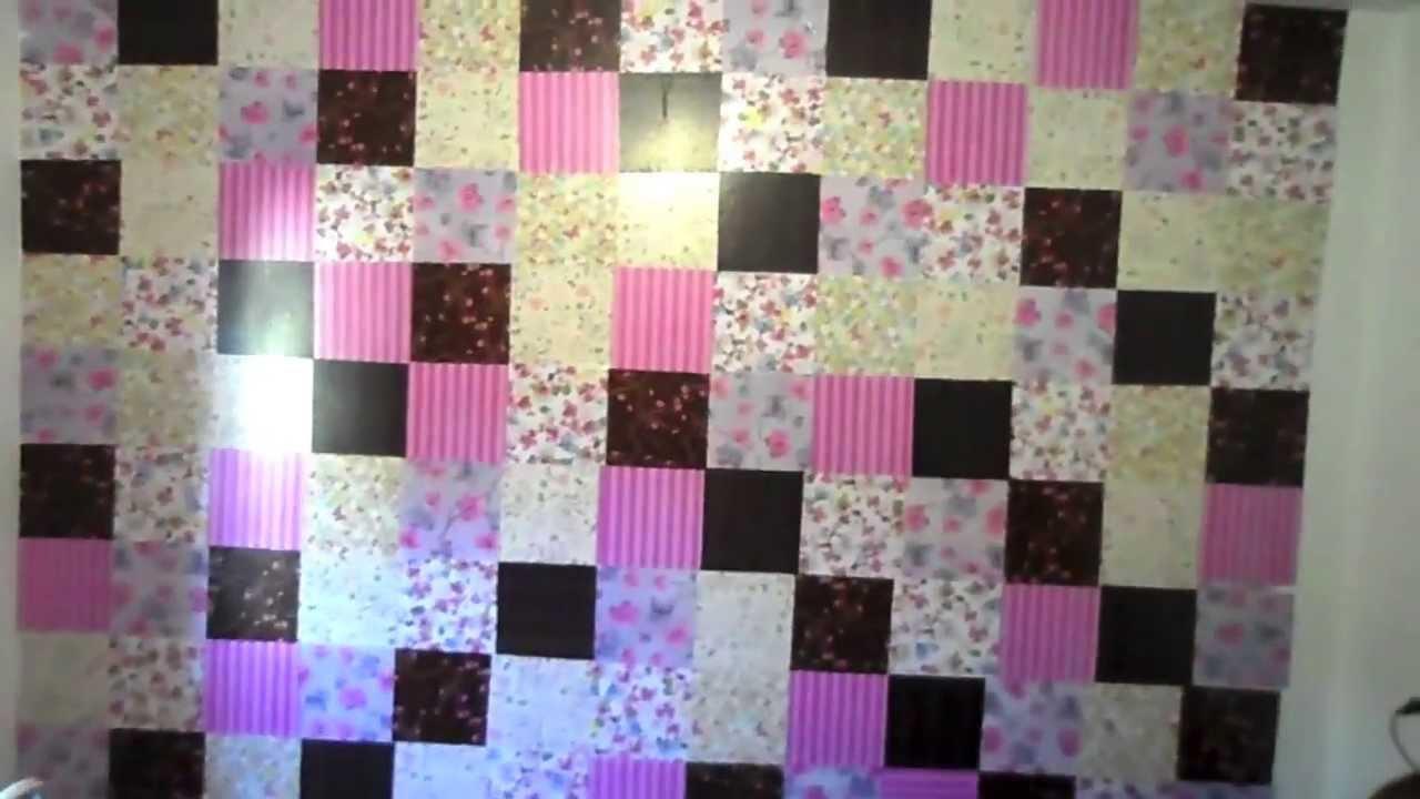 Decorar a parede com papel de presente passo a passo - Papel para decorar ...