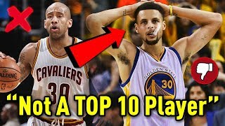 Nba player says steph curry is not a top 10 nba player!