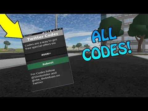 Roblox Vehicle Simulator Twitter Codes 2019