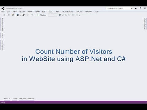 Count Number of Visitors (Hit Counter) in WebSite using ASP.Net and C#.