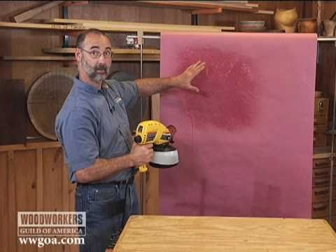Woodworking Tips: Finishing - Airless Sprayers in Your Shop