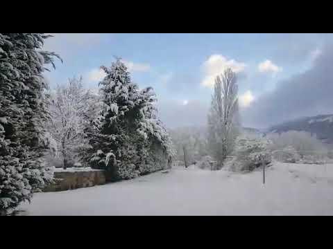 La nieve cubre el sur de Cantabria