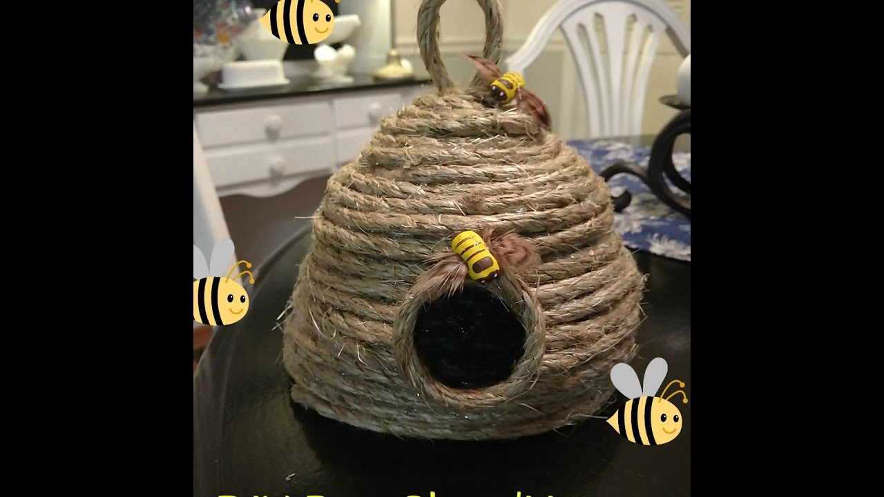 Easy DIY Bee Skep House