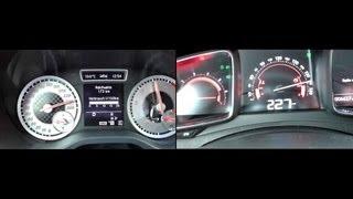 2012 Mercedes-Benz A 250 (211hp) vs. 2012 Citroen DS5 THP 200 (200hp) 0-244 km/h / 0-227 km/h