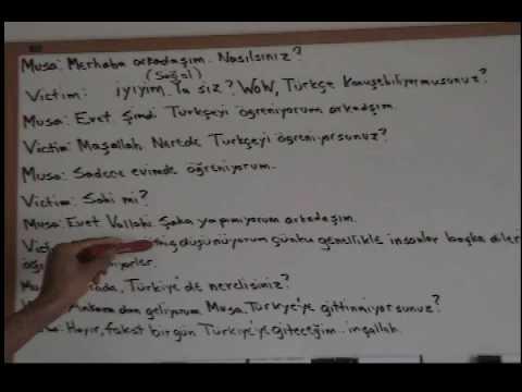 Turkish lesson 1