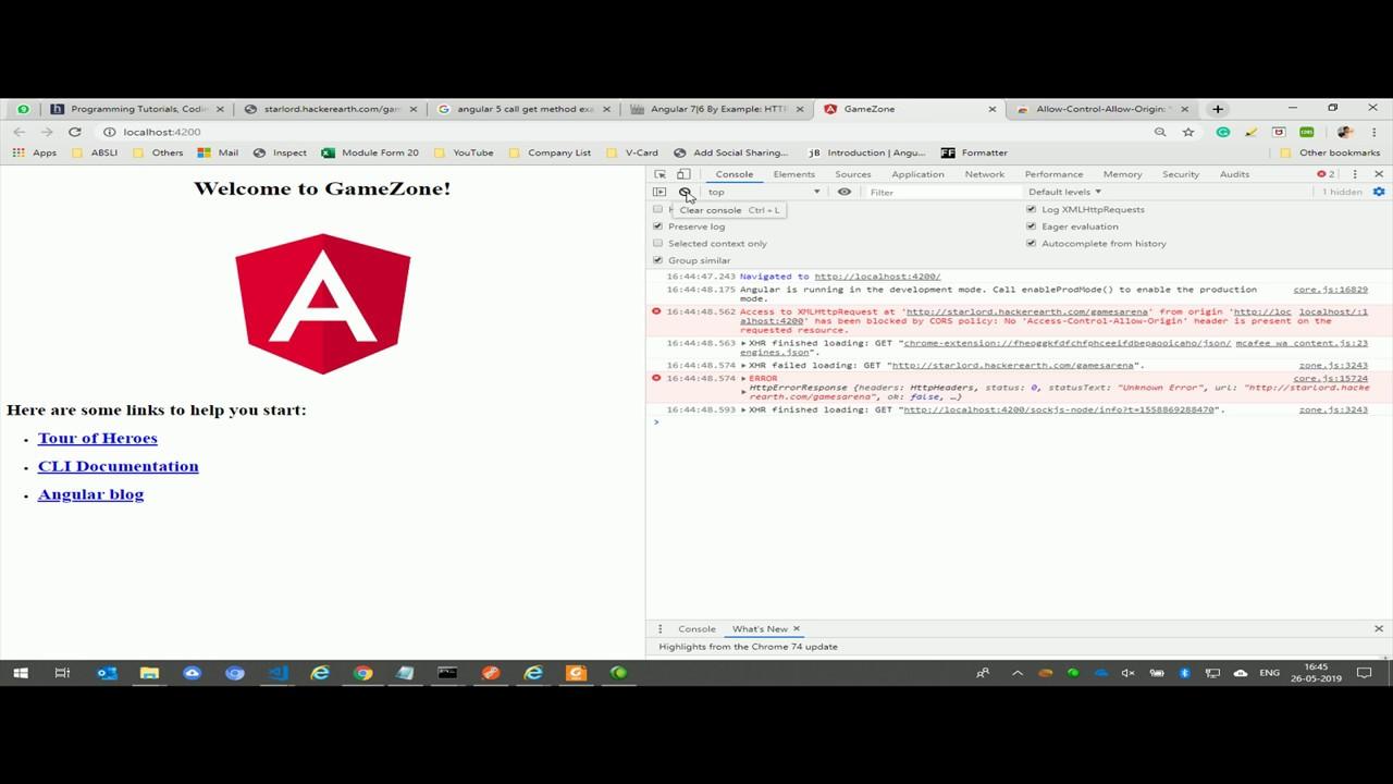 Allow Control Allow Origin   Access to XMLHttpRequest in angular 2 - 4 - 5  - 6 - 7 in chrome