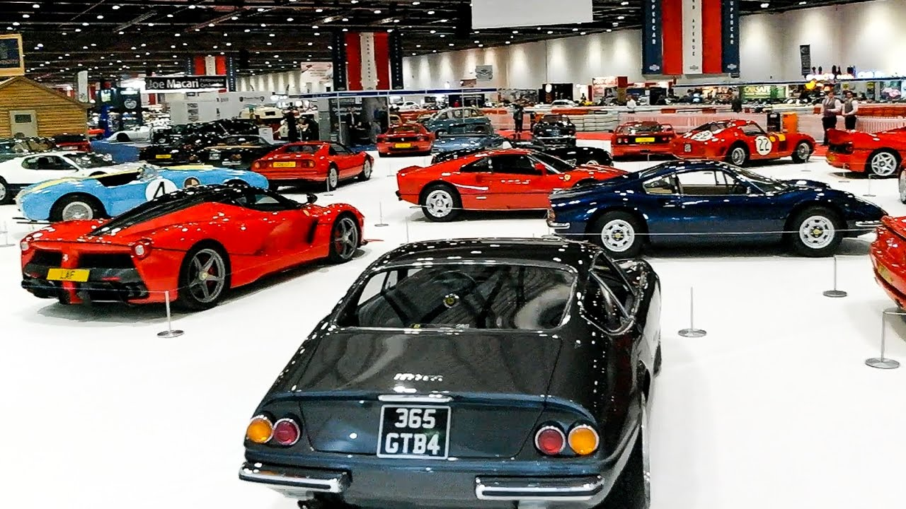Million Worth Of Ferraris London Classic Car Show YouTube - London classic car show