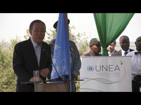 Ban Ki-moon concludes visit to Kenya