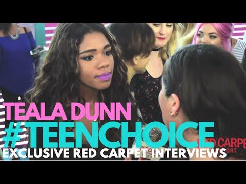 Teala Dunn interviewed at the 2016 Teen Choice Awards Teal Carpet #TeenChoice