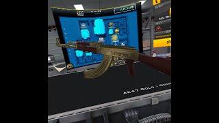 Oculus Quest - Gun Club VR GOLD AK47 Assault Rifle.