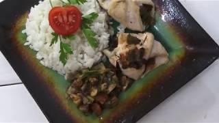 Рецепт куриных рулетиков с овощами и халапеньо