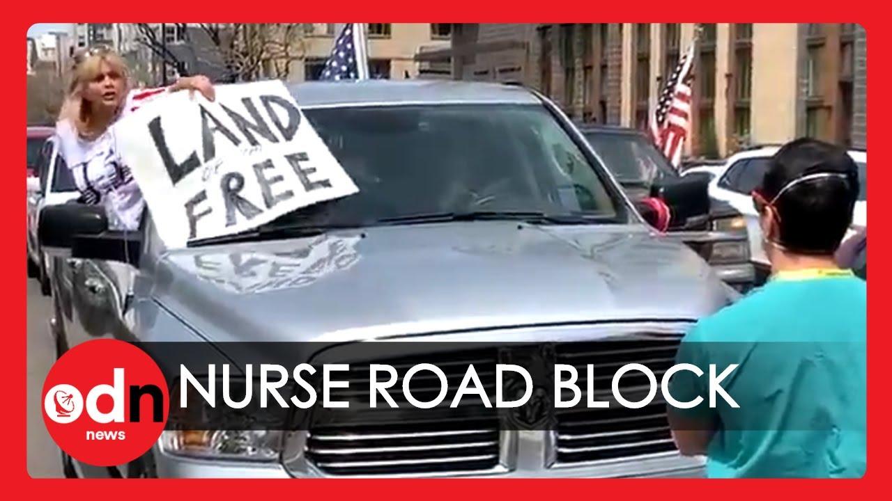 Lockdown Protestors Nurse