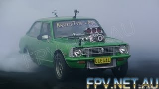 HIGHLIGHTS FROM BURNOUT MANIA HELD AT SYDNEY DRAGWAY 1.10.2012