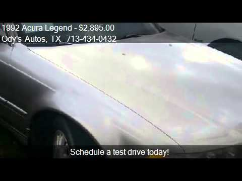 Acura Legend L Sedan For Sale In Houston TX At O YouTube - Acura legend 1992 for sale
