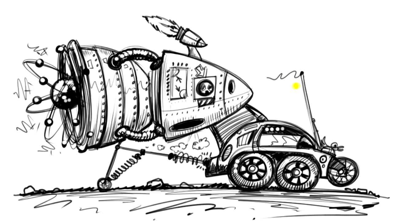 Draw Cartoon Cars Of The Future