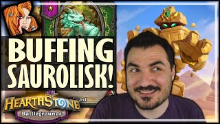 PYRAMAD CAN BUILD SAUROLISK! - Hearthstone Battlegrounds