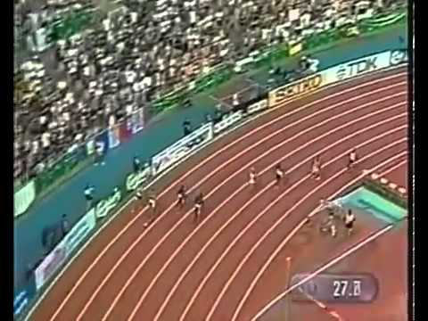 Michael Johnson - World Record 400m - 43.18 - HD