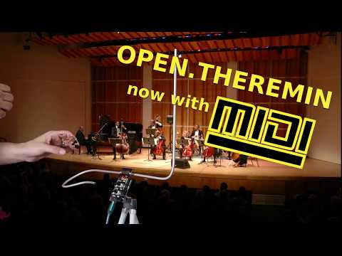 Open Theremin with MIDI Musical Instrument Digital Interface