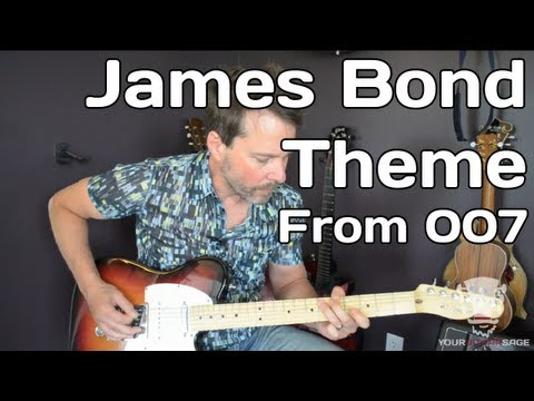 Guitar guitar tabs 007 theme song : How To Play James Bond Theme from 007 - Guitar Lesson - YouTube