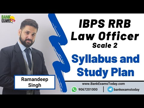 IBPS RRB Law Officer Scale II Syllabus