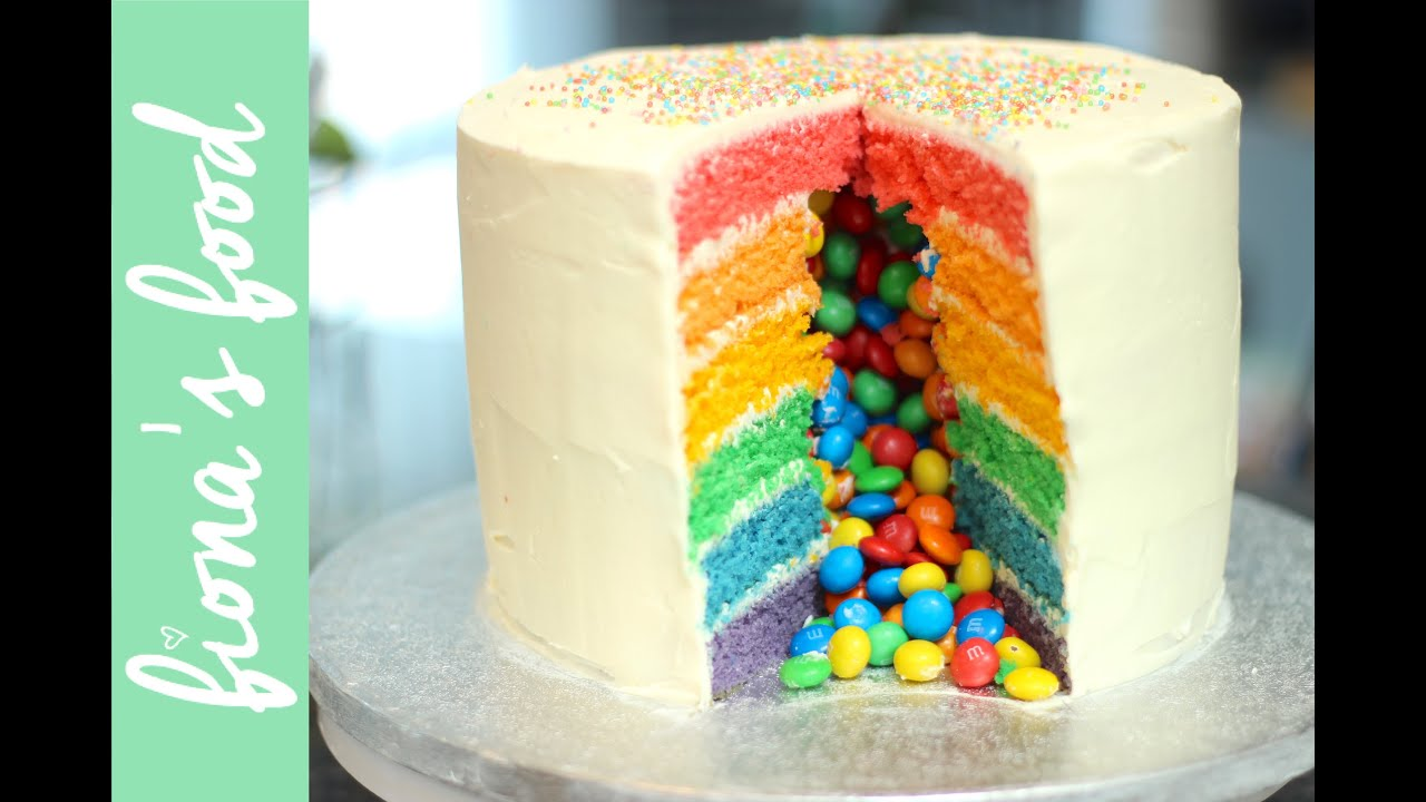 Cake Recipes Rainbow: Rainbow Piñata Cake Recipe