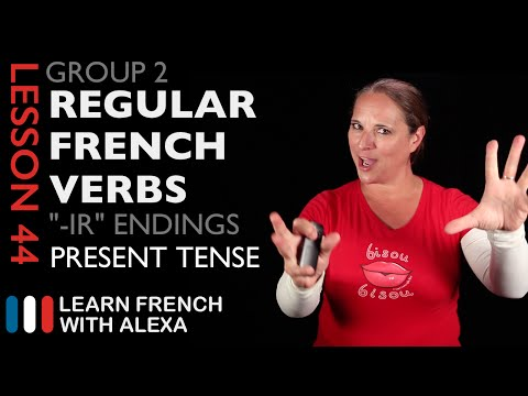 To help verb conjugation in french present tense