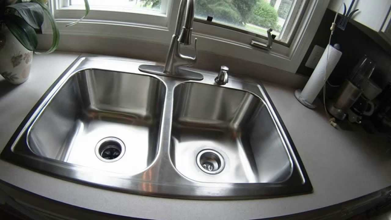 DIY Kitchen Sink and Faucet Replacement - YouTube