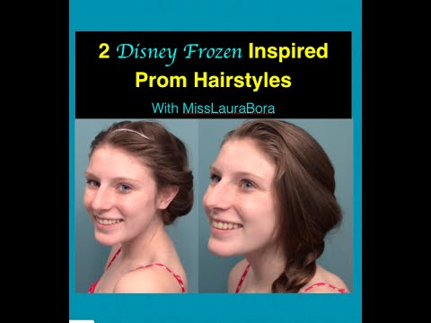 Disney Frozen Inspired HEATLESS Prom Hairstyles | Collab with MissLauraBora | Prom Week